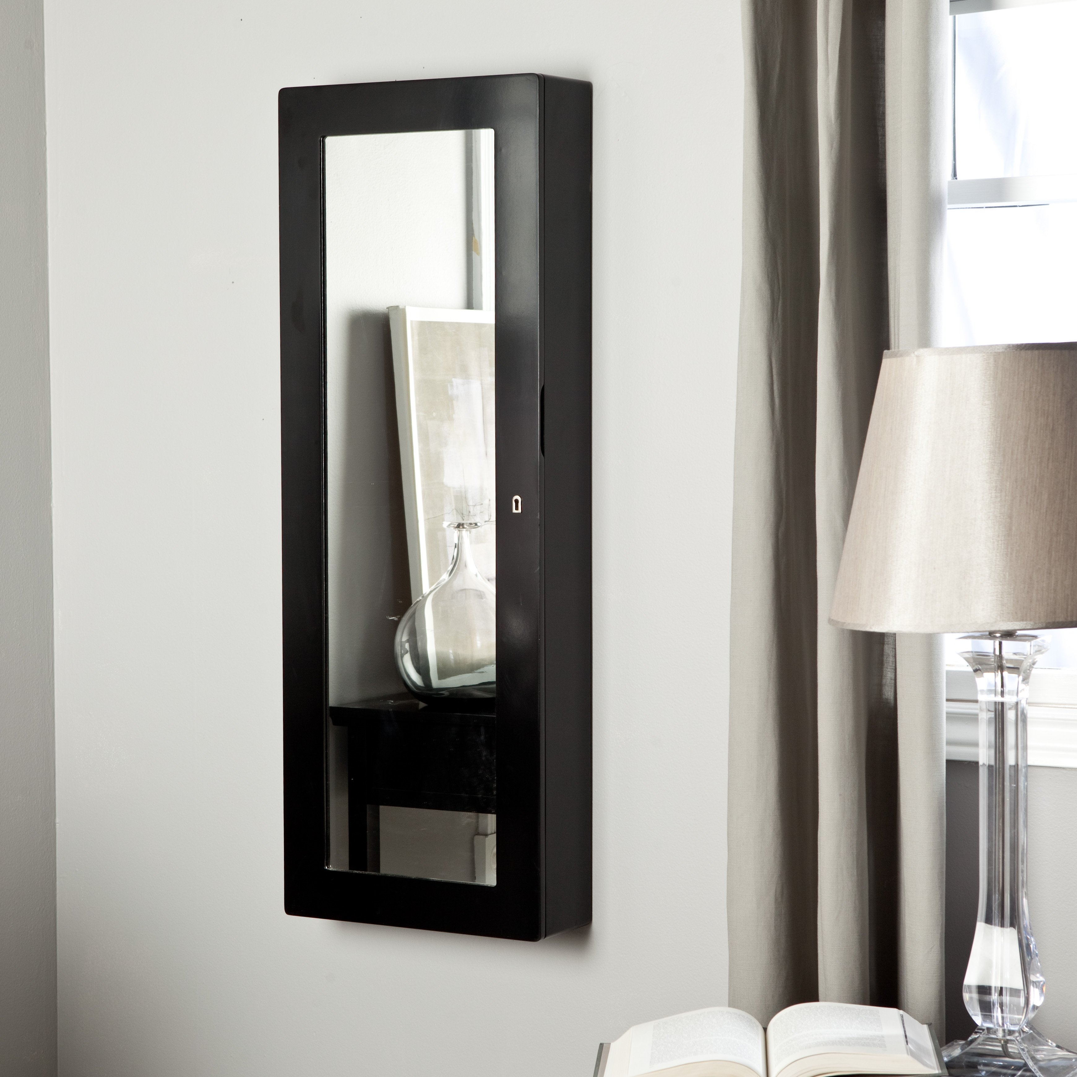 Black Bathroom Wall Cabinets With Mirror