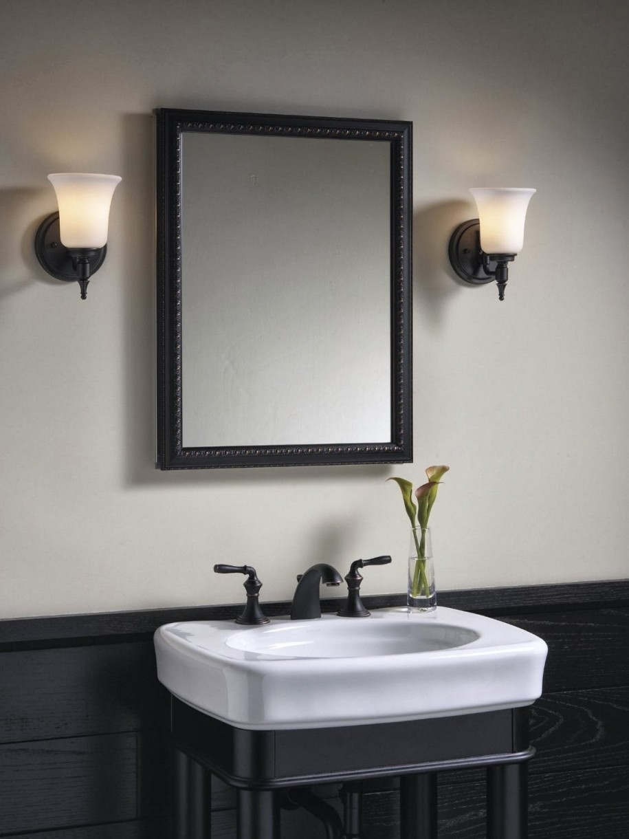 Black Framed Mirror For Bathroom
