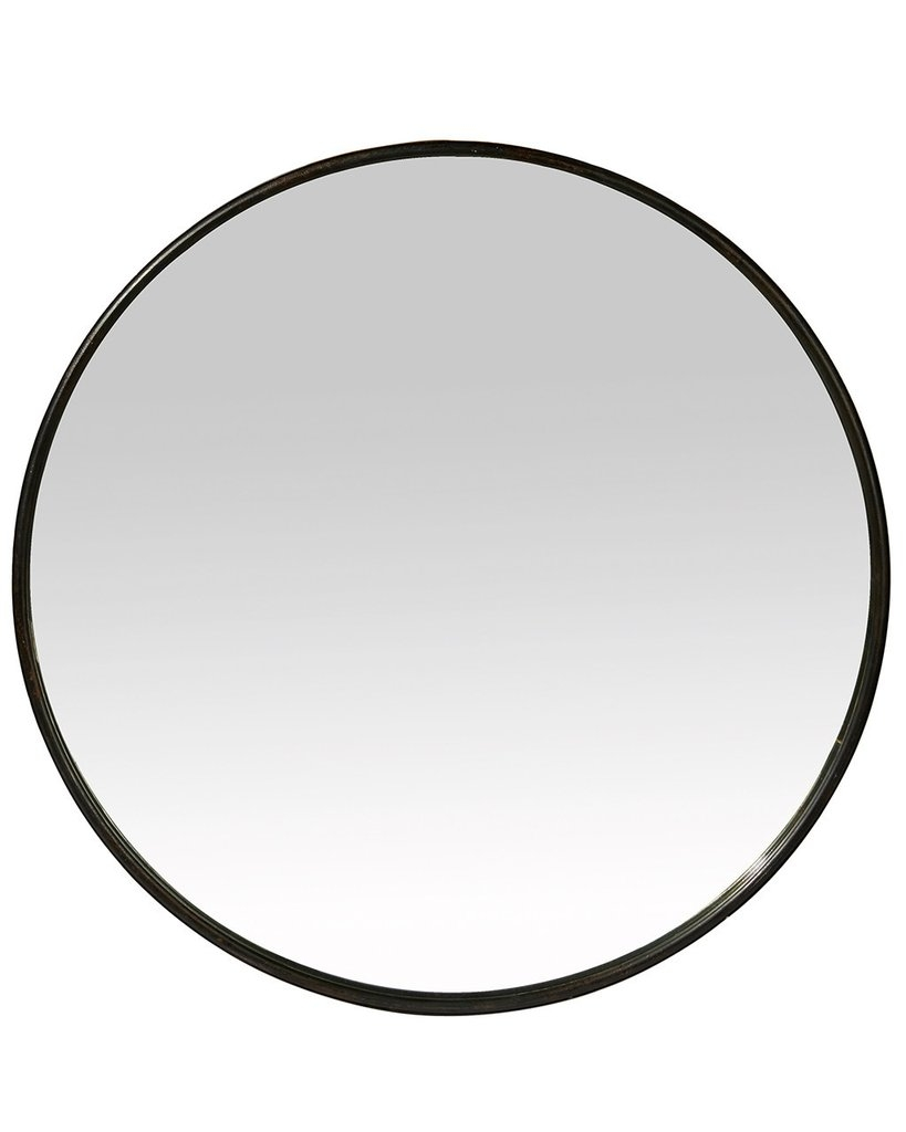 Black Framed Round Wall Mirror