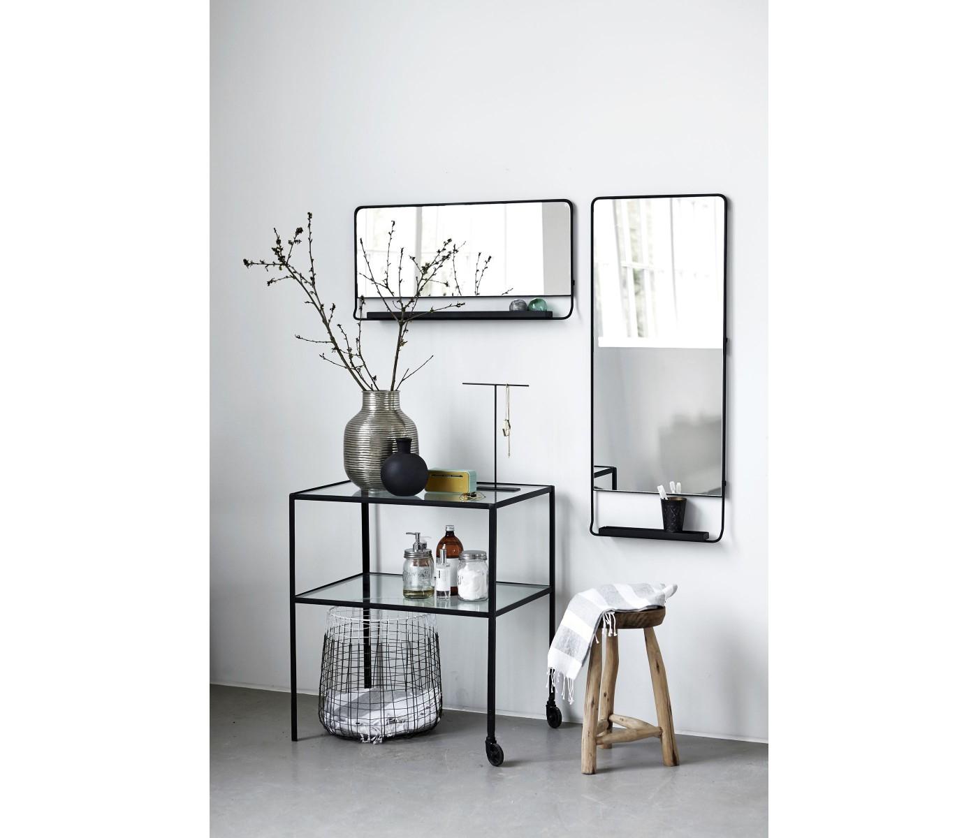 Black Horizontal Wall Mirror Black Horizontal Wall Mirror horizontal wall mirror chic with shelfe and black edge house doctor 1400 X 1200