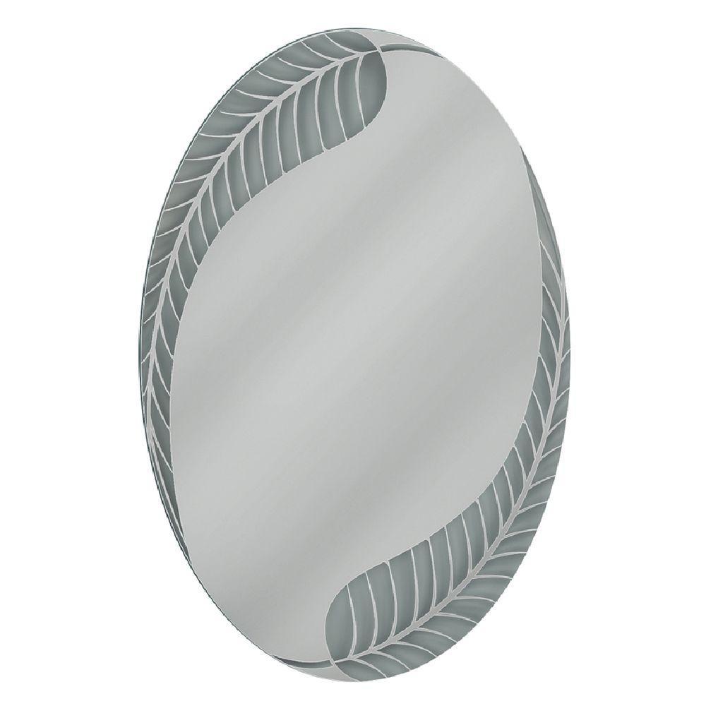 Black Oval Bathroom Mirror