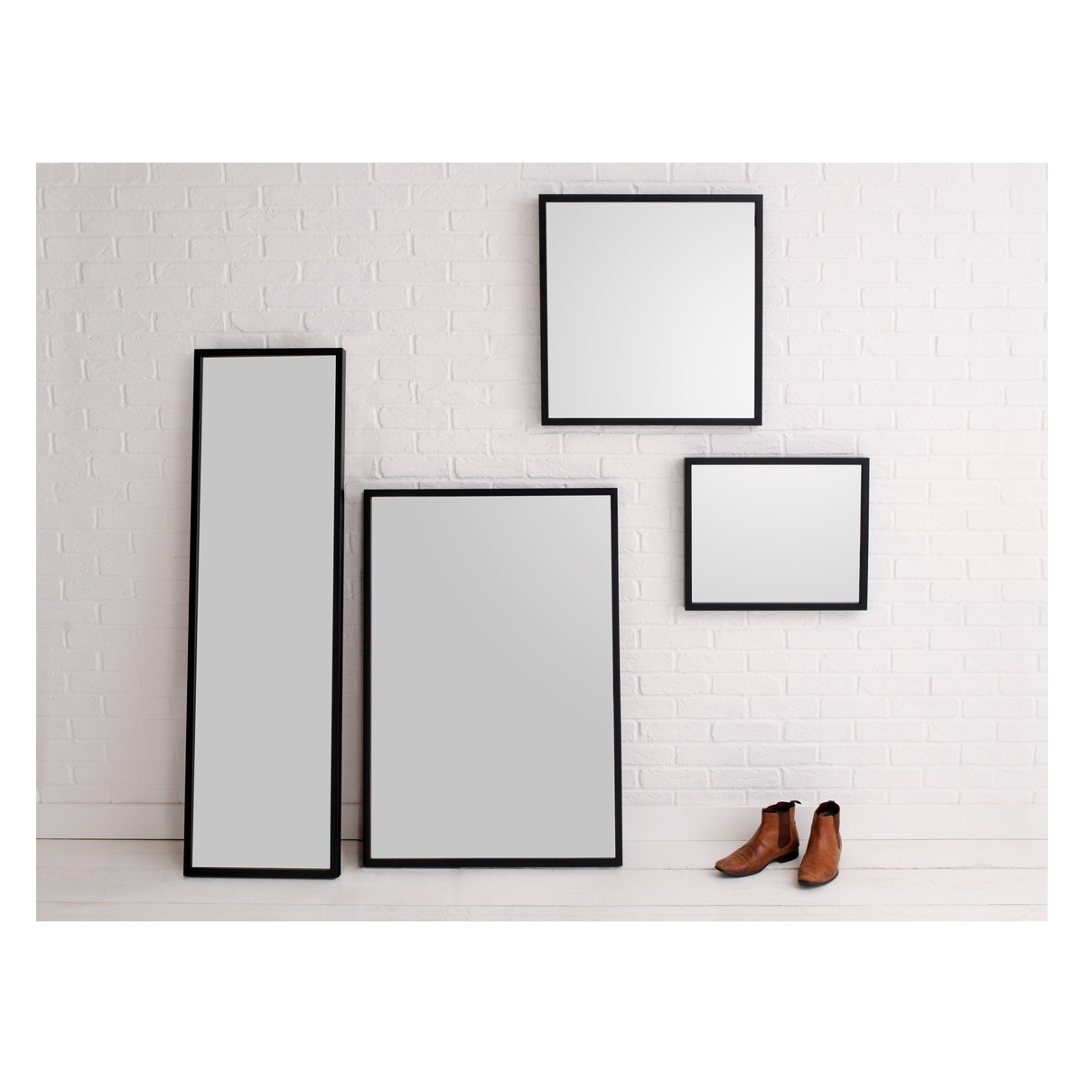 Black Rectangle Bathroom Mirror