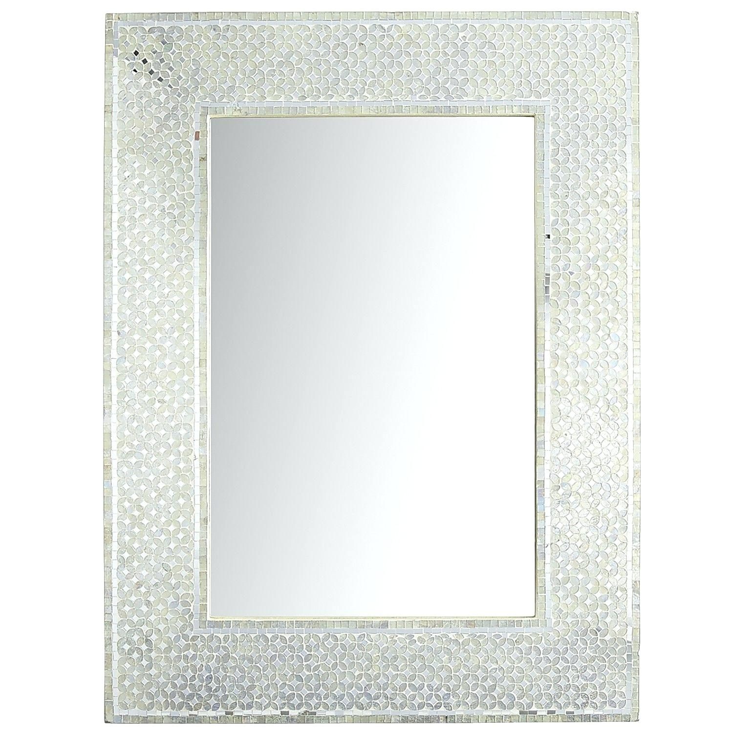 Black Rhinestone Wall Mirror