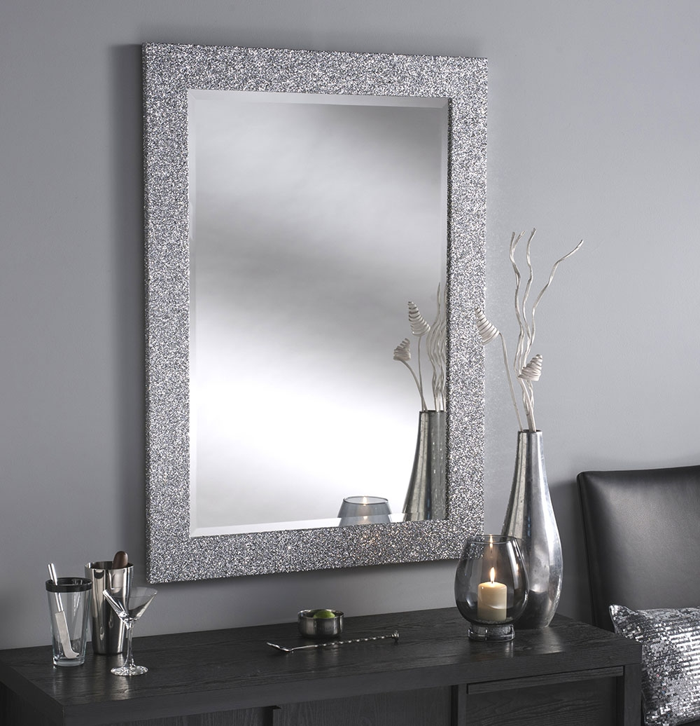 Black Sparkle Bathroom Mirrors