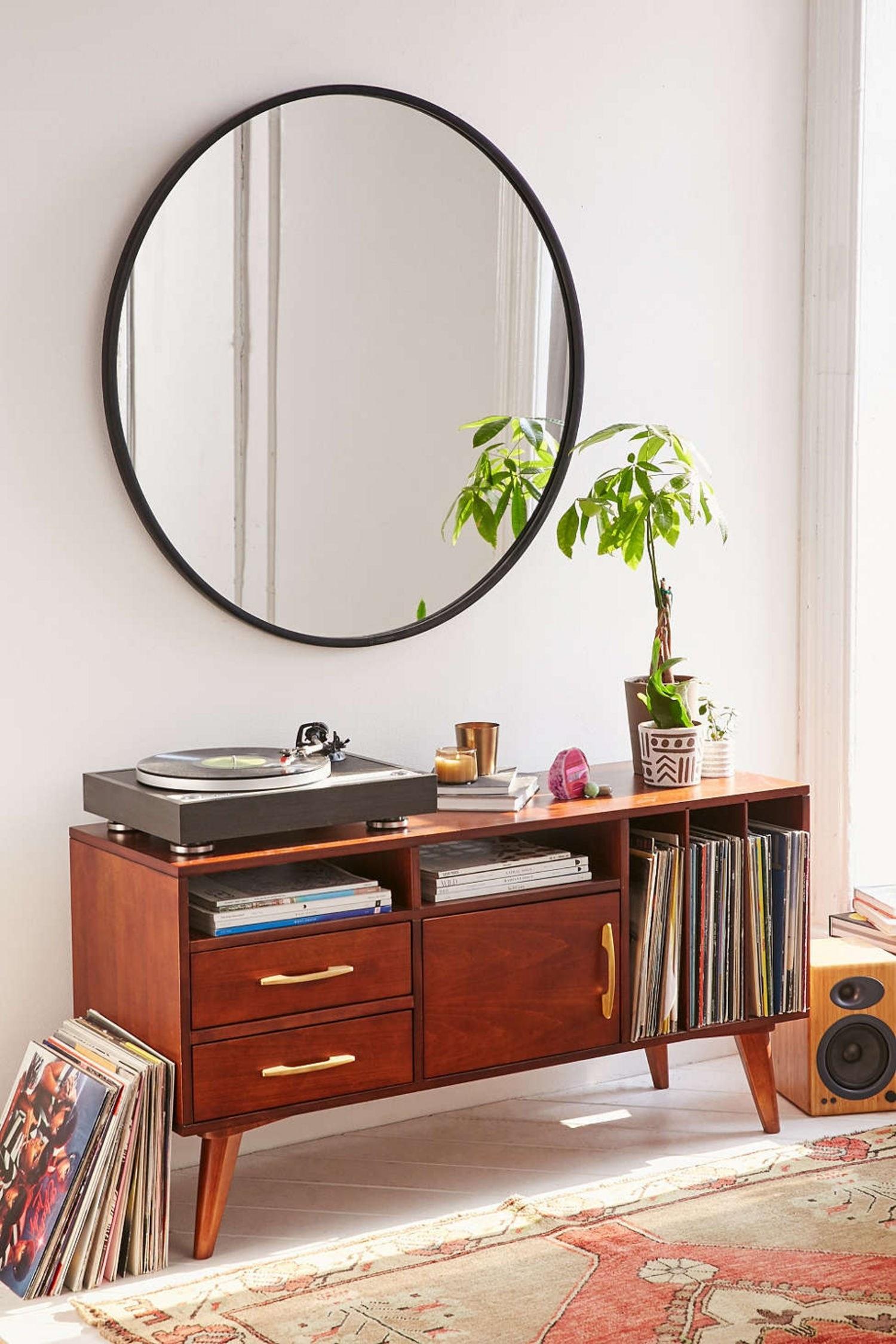 Black Sparkle Wall Mirror