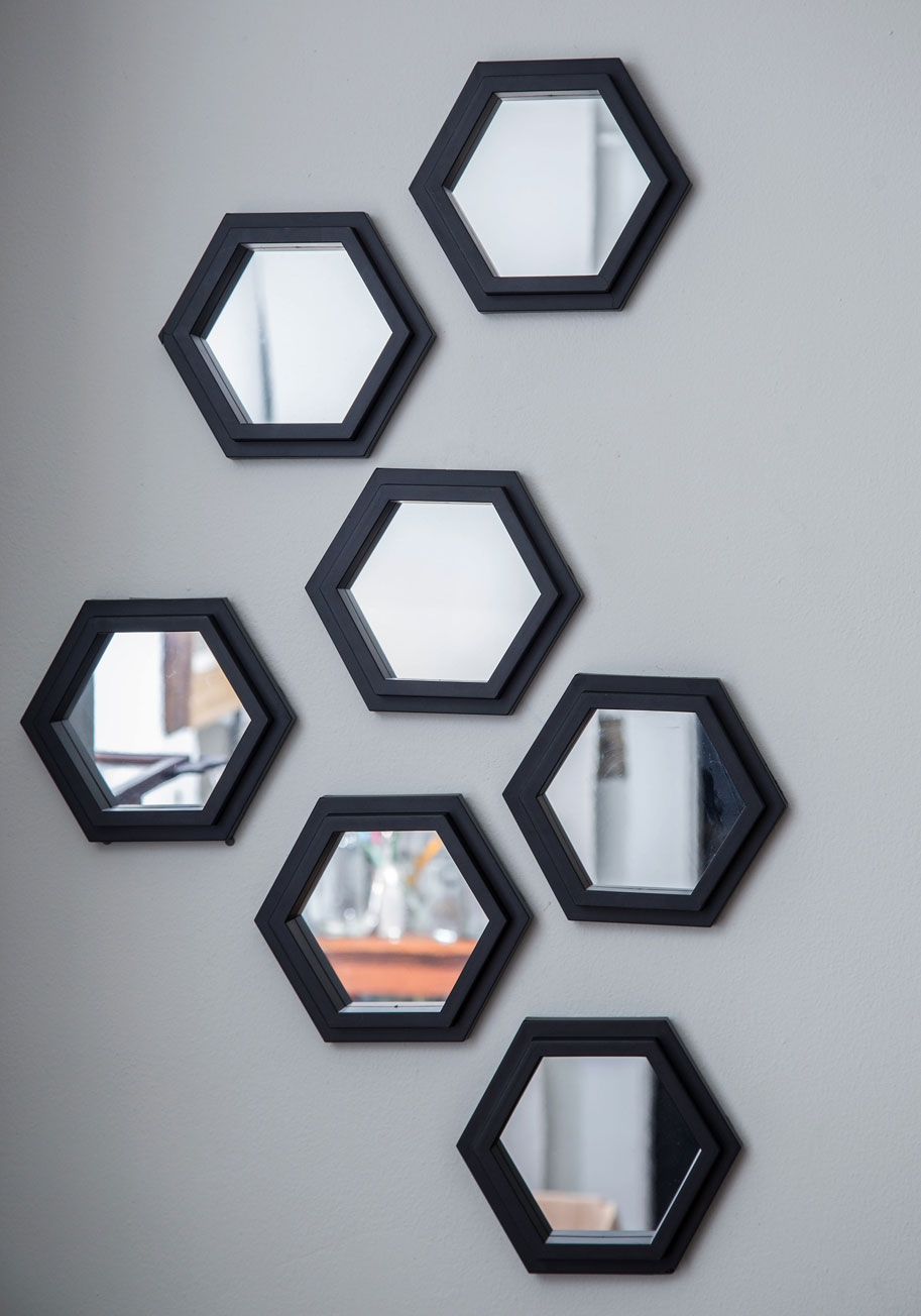 Black Wall Mirror Set Black Wall Mirror Set plume and board mirrored wall decor mirror set 913 X 1304