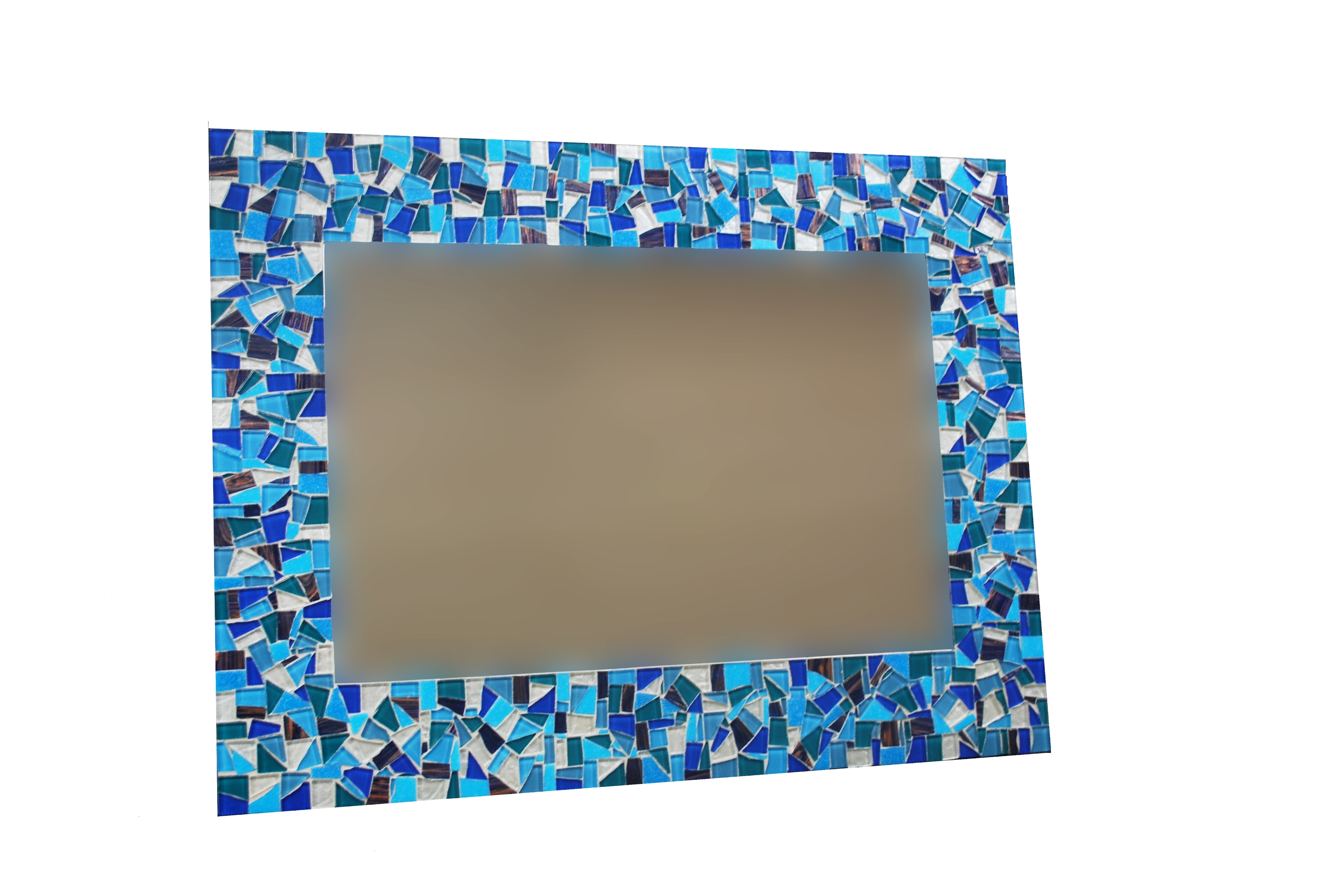 Blue Mosaic Bathroom Mirror