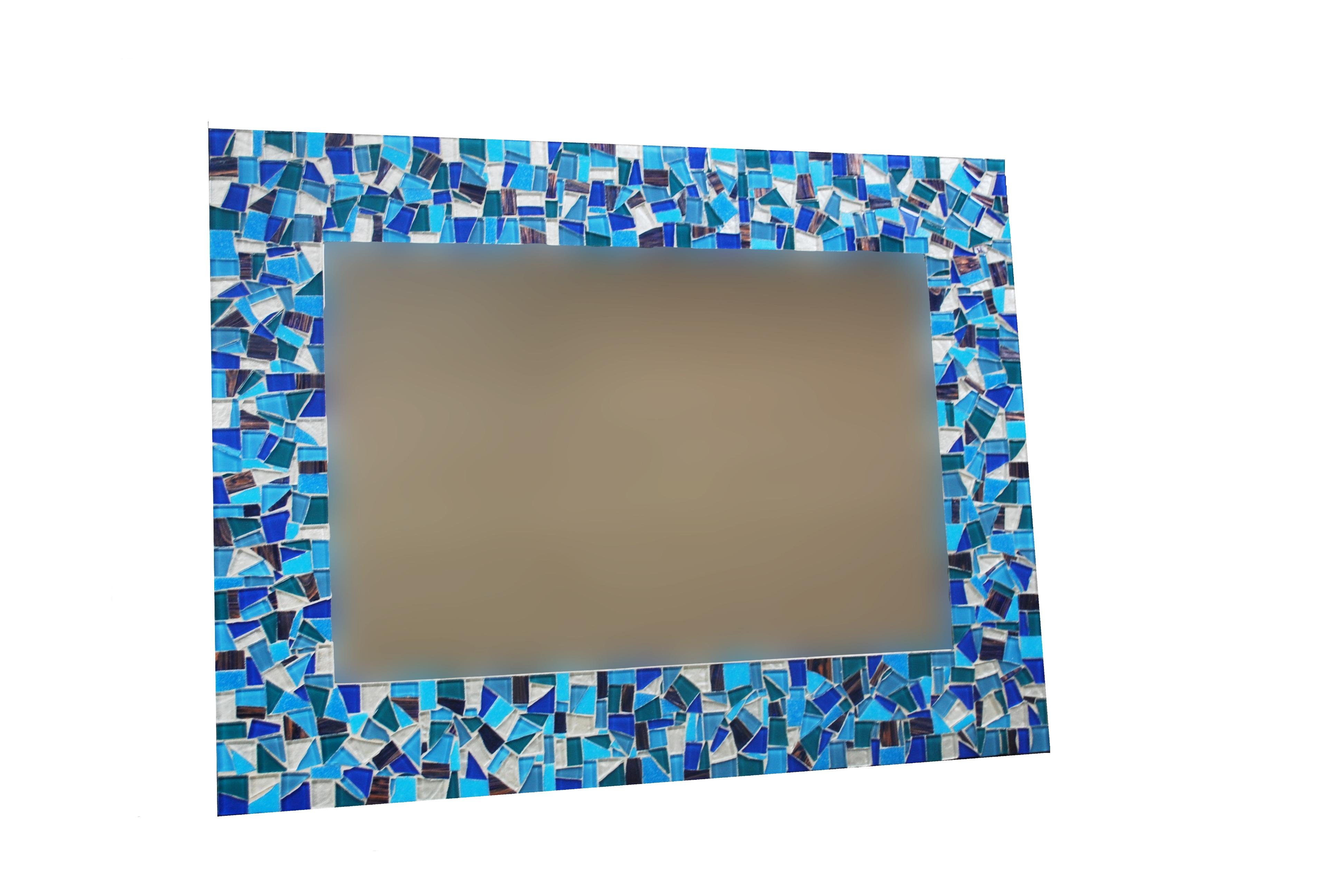 Blue Mosaic Bathroom Mirrors