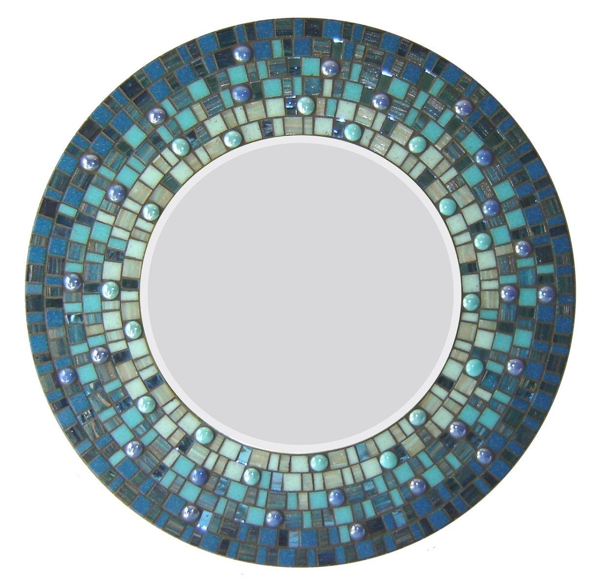 Blue Mosaic Wall Mirror