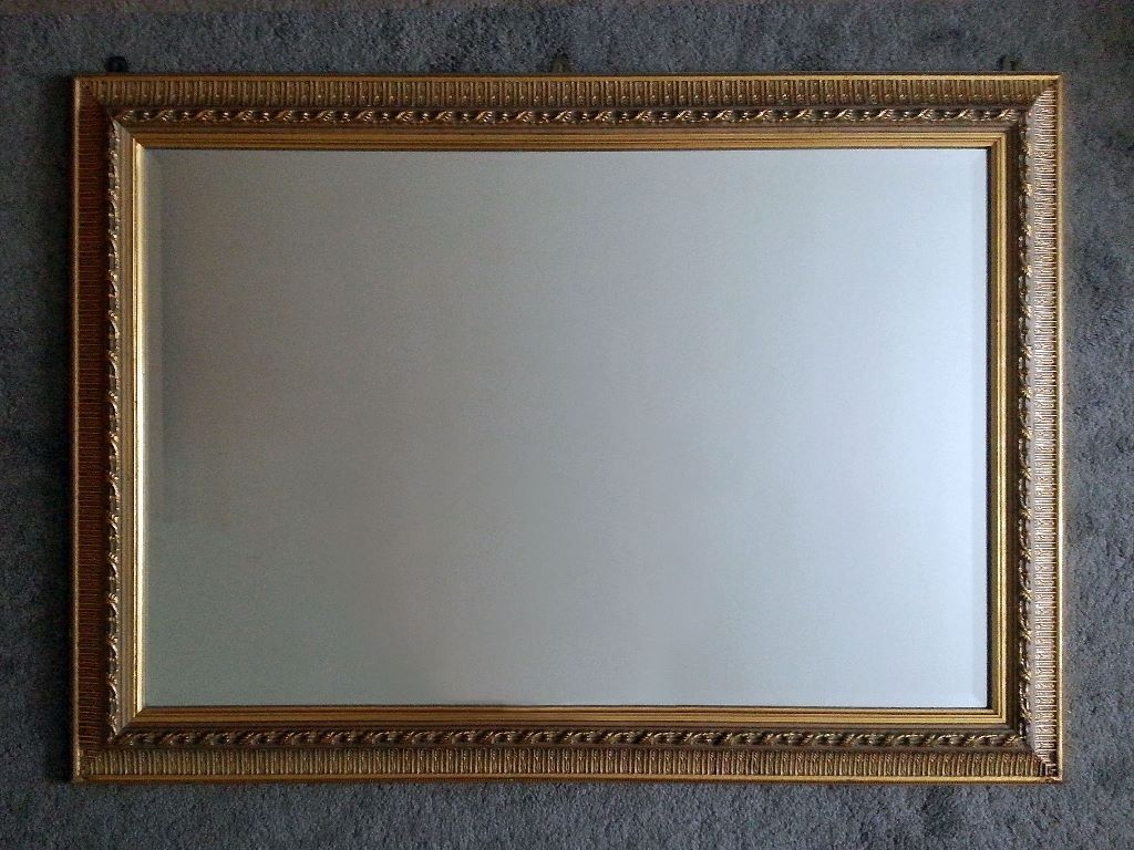 Brass Effect Wall Mirror Brass Effect Wall Mirror beautiful brass effect wall mirror 76cm x 106cm antique look 1024 X 768