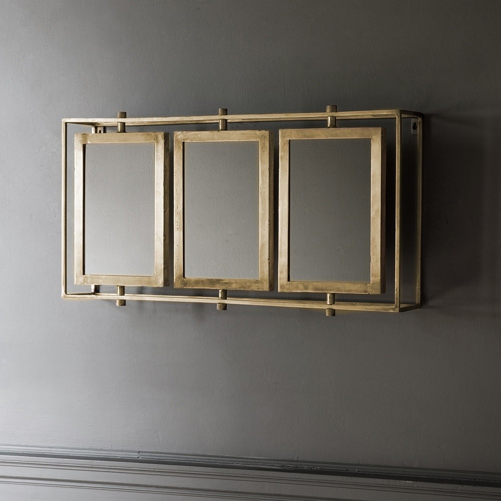 Brass Wall Mirror With Shelf Brass Wall Mirror With Shelf tribeca triple wall mirror antique brass 1000 X 1000