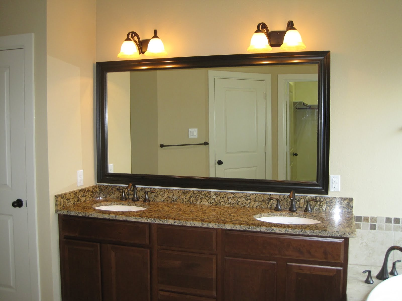 Bronze Framed Bathroom Mirrors