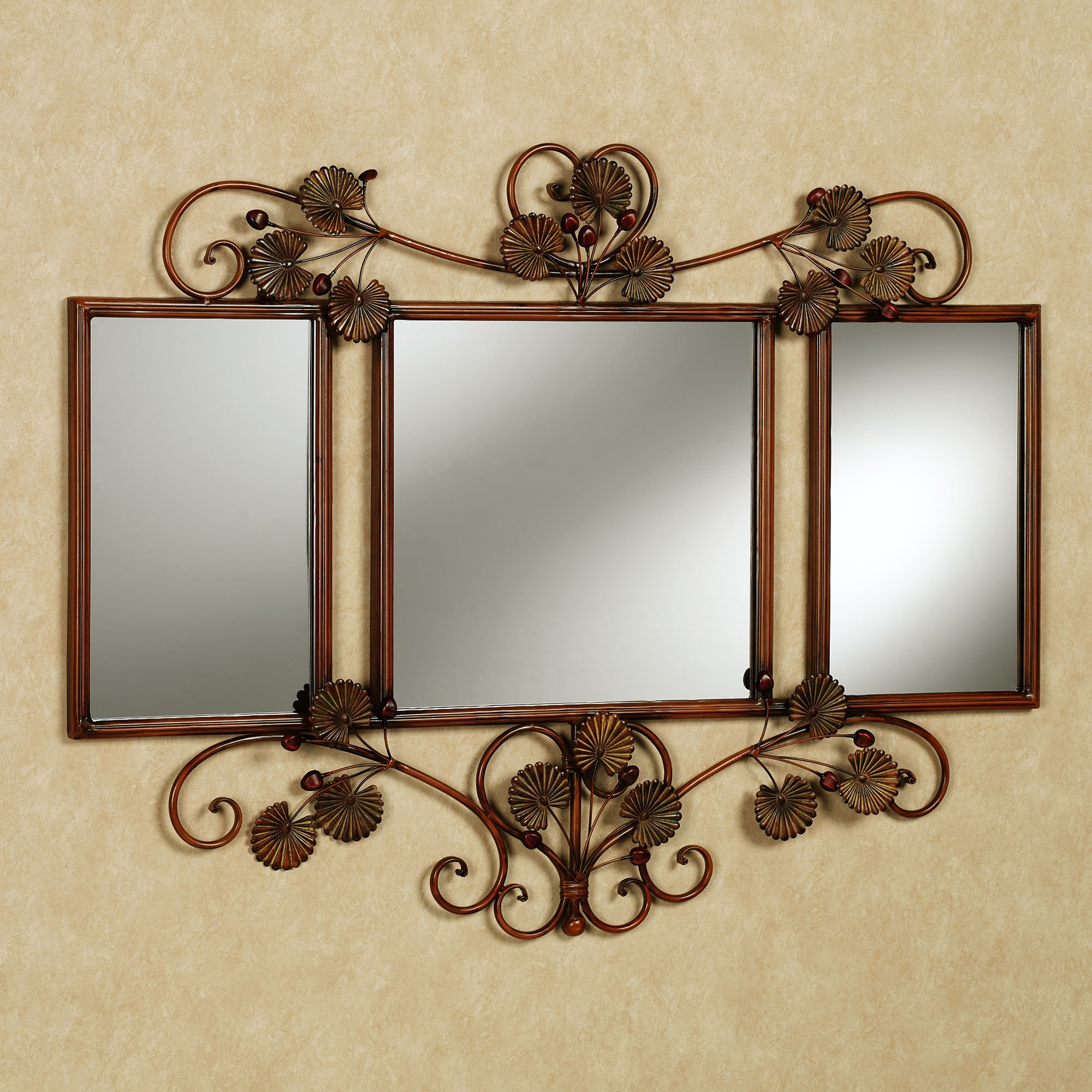 Bronze Metal Wall Mirrors