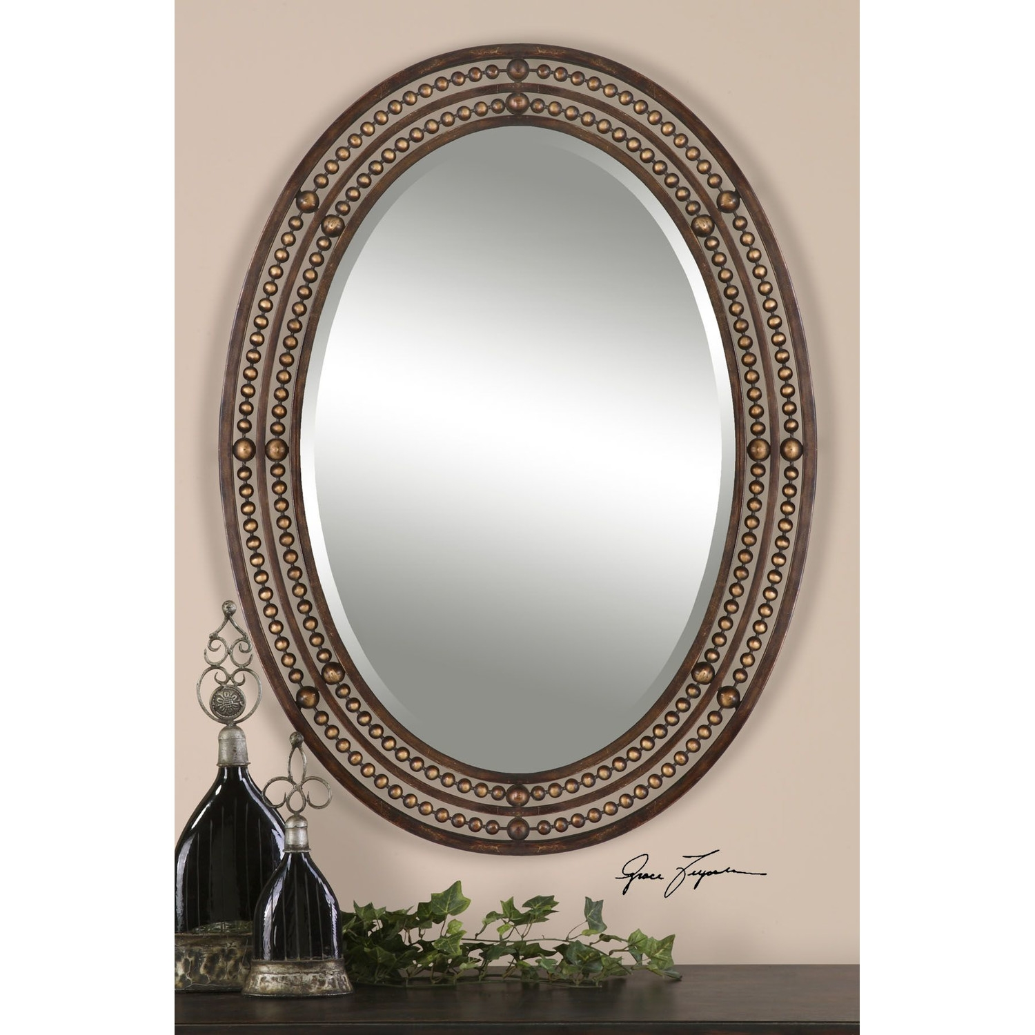 Bronze Oval Bathroom Mirrors