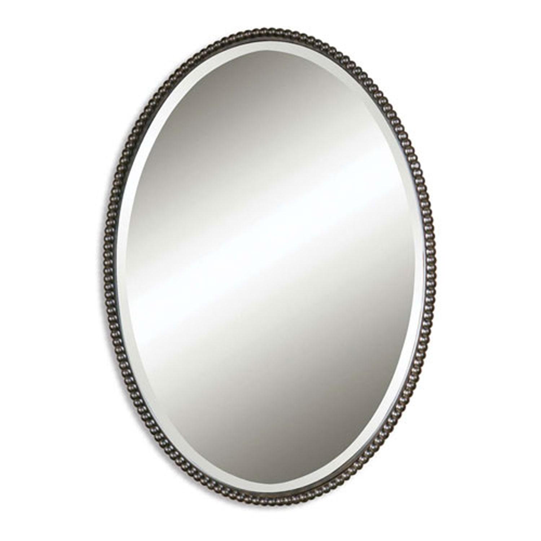 Bronze Oval Wall Mirror