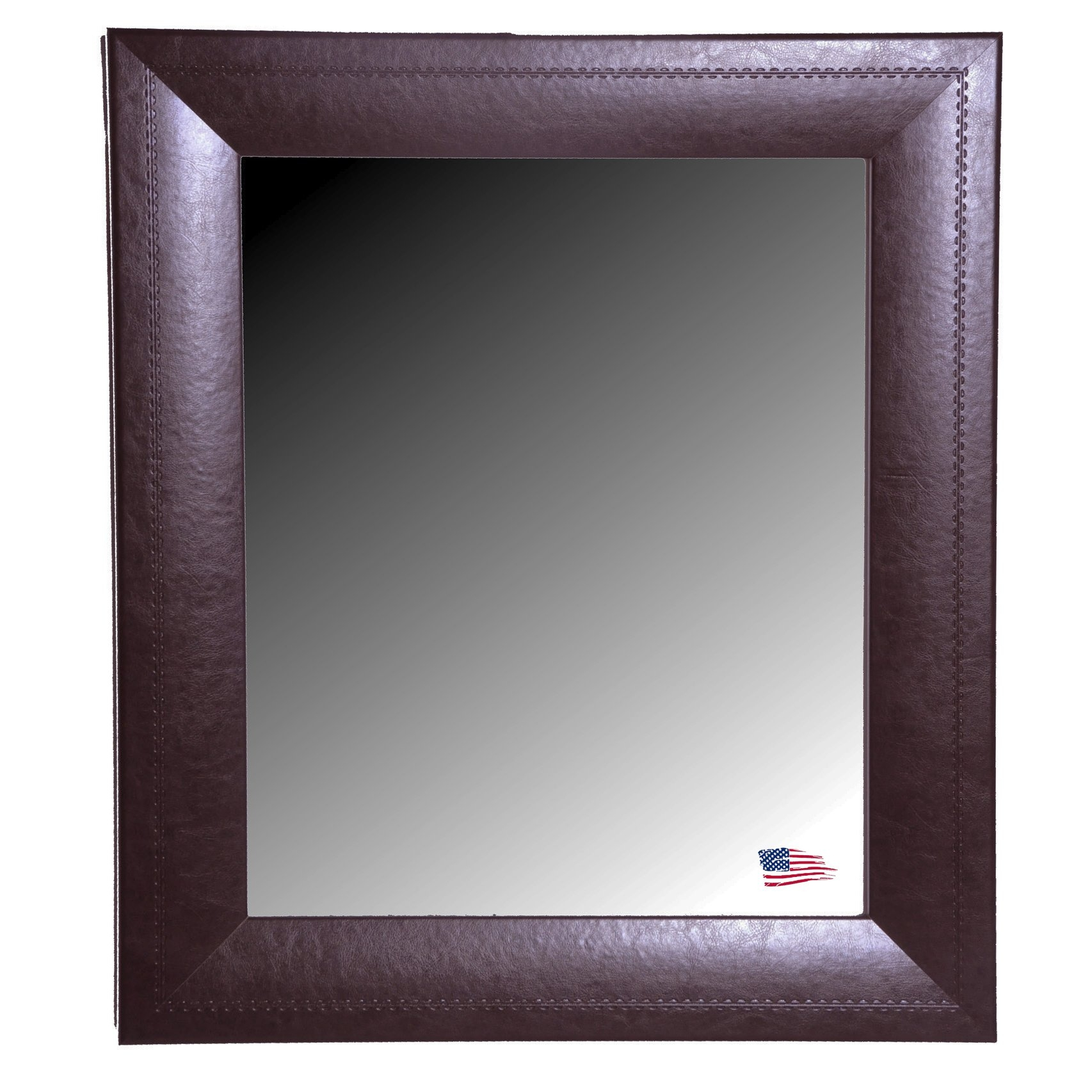 Brown Leather Wall Mirror