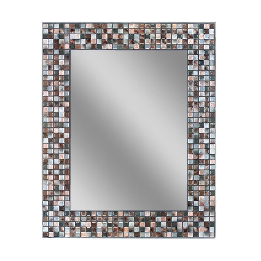 Brown Mosaic Bathroom Mirror