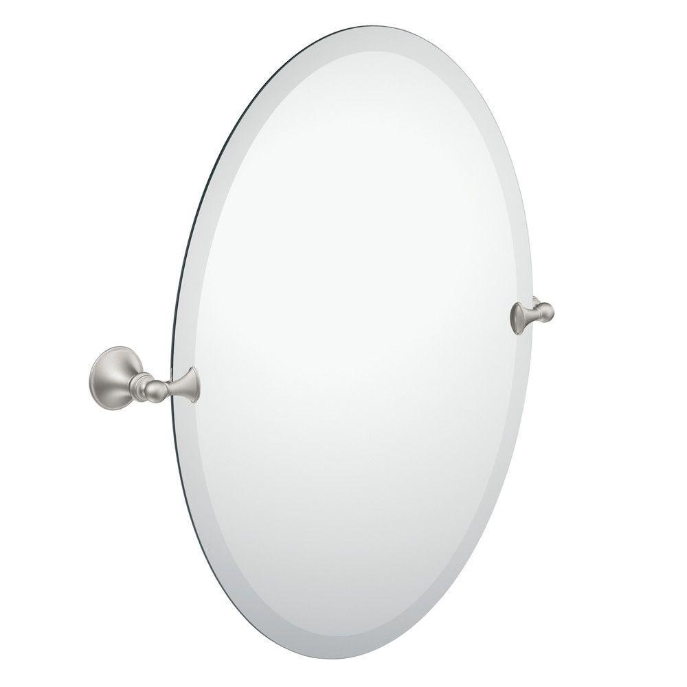 Brushed Nickel Bathroom Mirror Moen