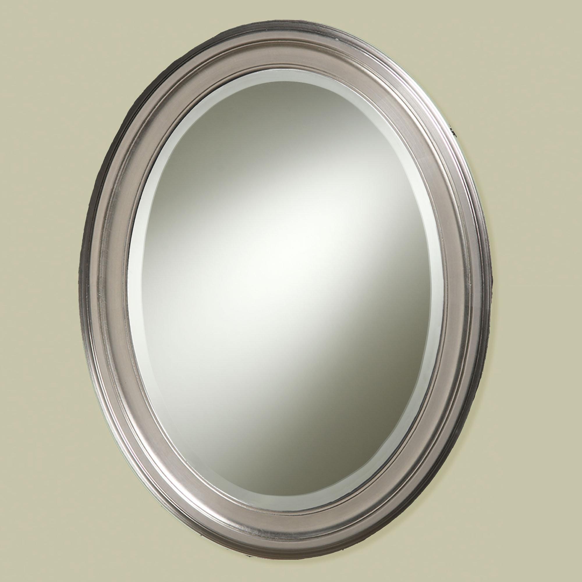 Brushed Nickel Bathroom Mirror Oval
