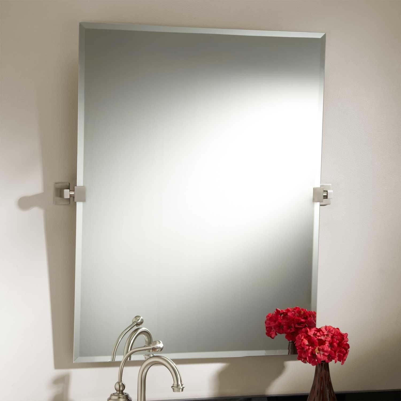 Permalink to Brushed Nickel Bathroom Mirror Rectangular