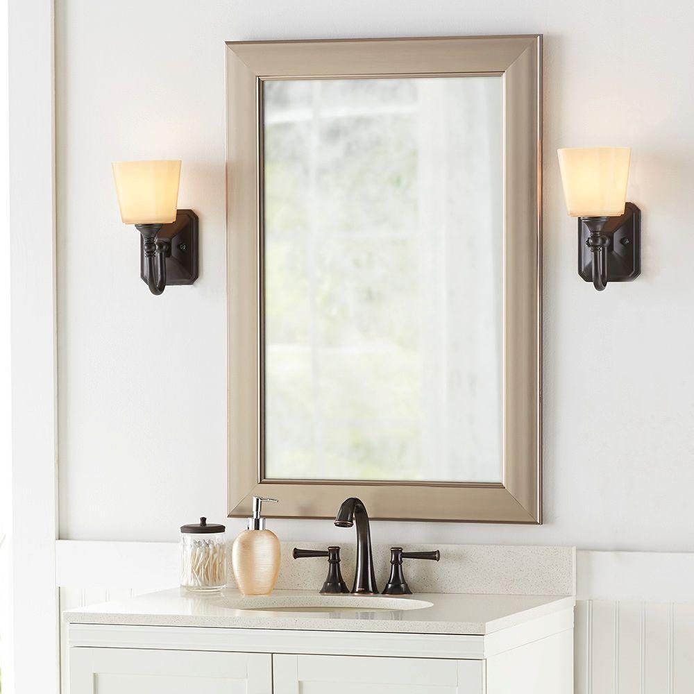 Brushed Nickel Bathroom Mirror
