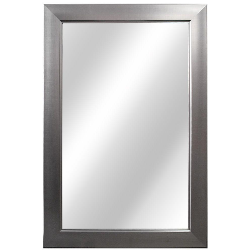 Brushed Nickel Bathroom Wall Mirrors