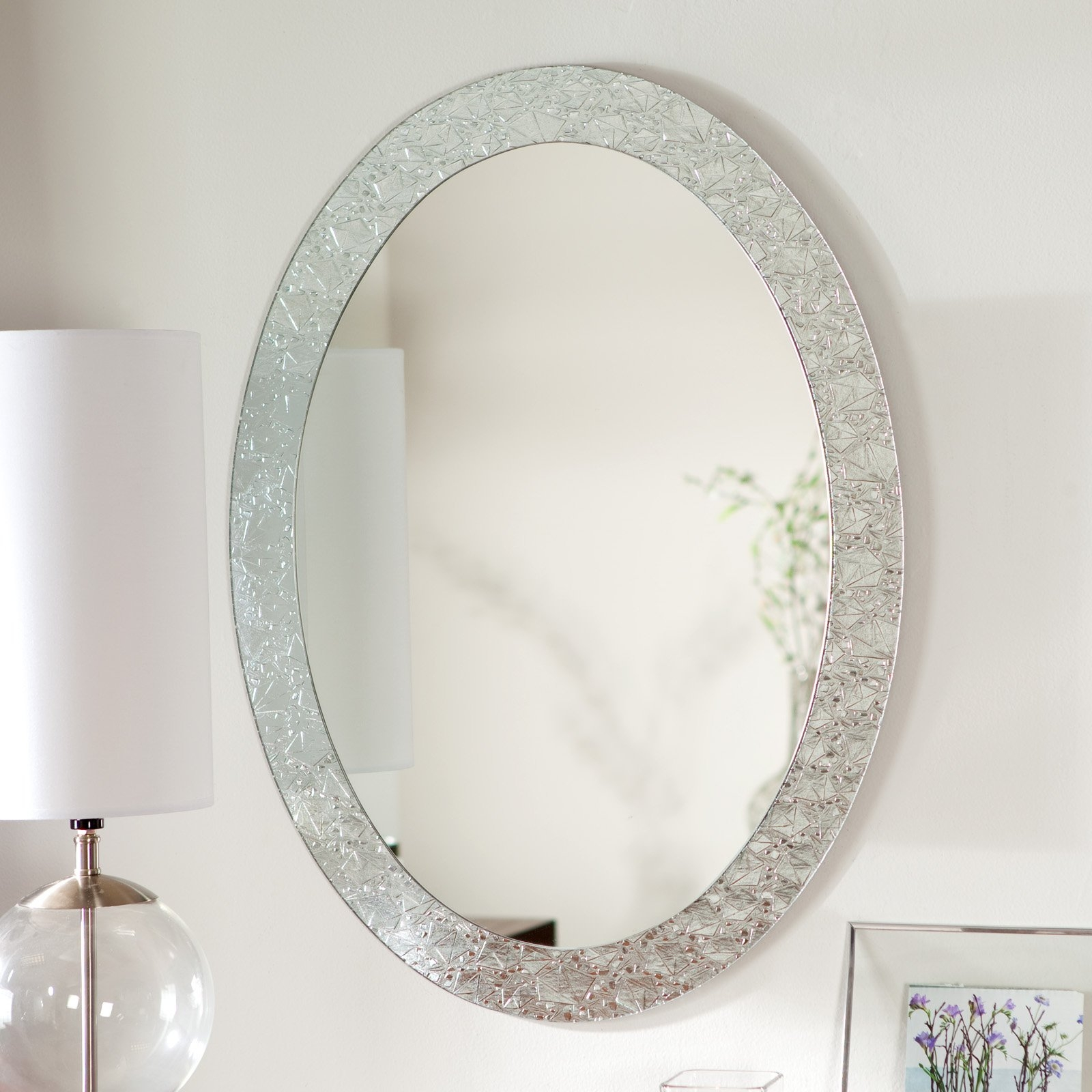 Brushed Nickel Decorative Wall Mirrors