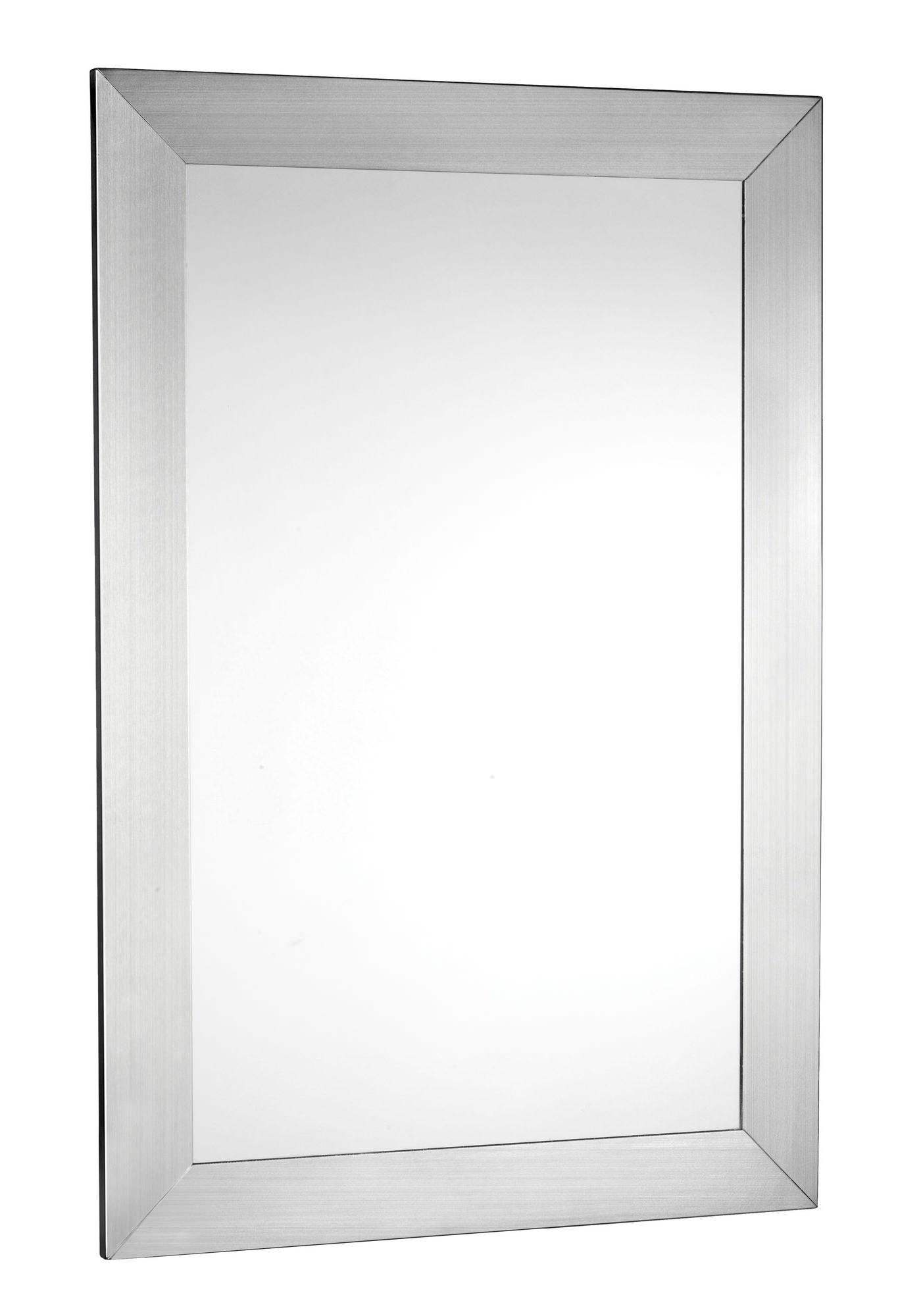 Brushed Stainless Steel Bathroom Mirror