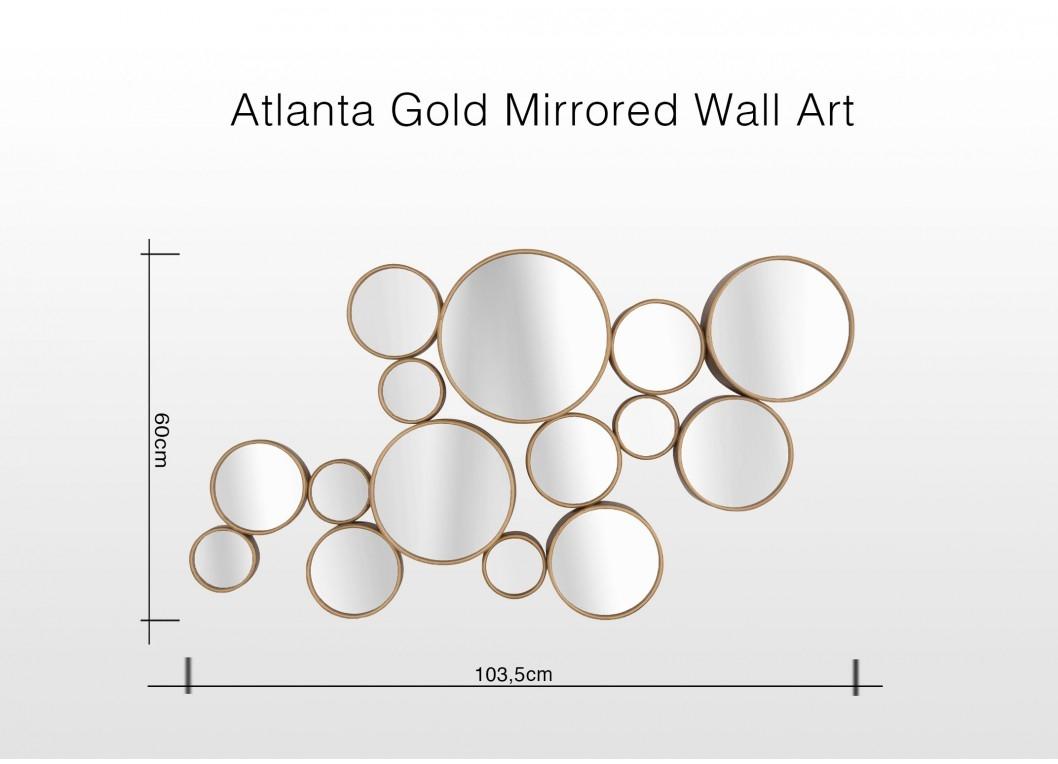 Bubble Mirror Wall Art