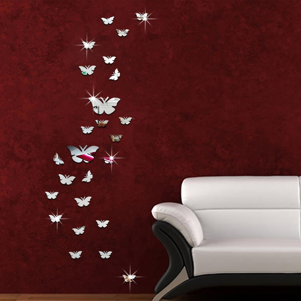 Butterfly Mirror Acrylic Wall Stickers