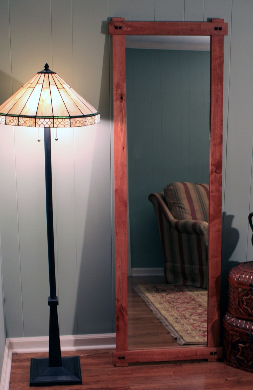 Cherry Finish Wall Mirror