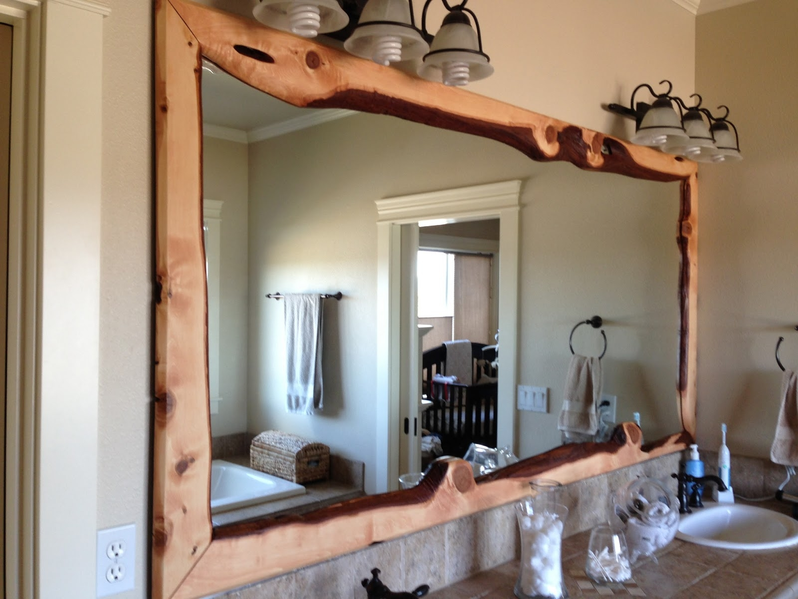 Cherry Wood Framed Wall Mirrors