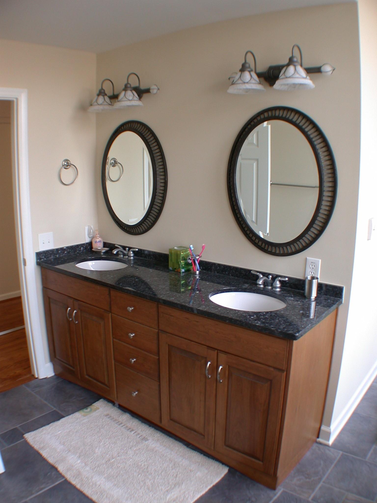 Cherry Wood Mirrors Bathroom