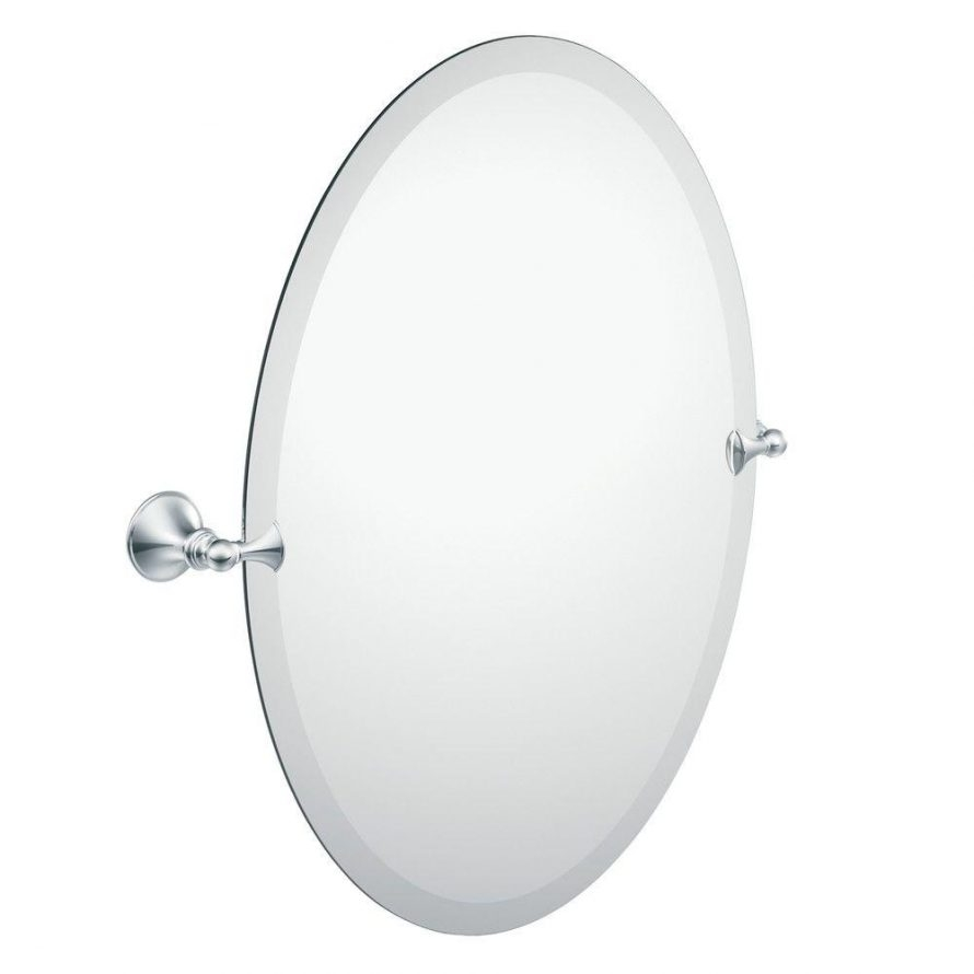 Chic Large Frameless Beveled Mirrors Edge Wall Mirror