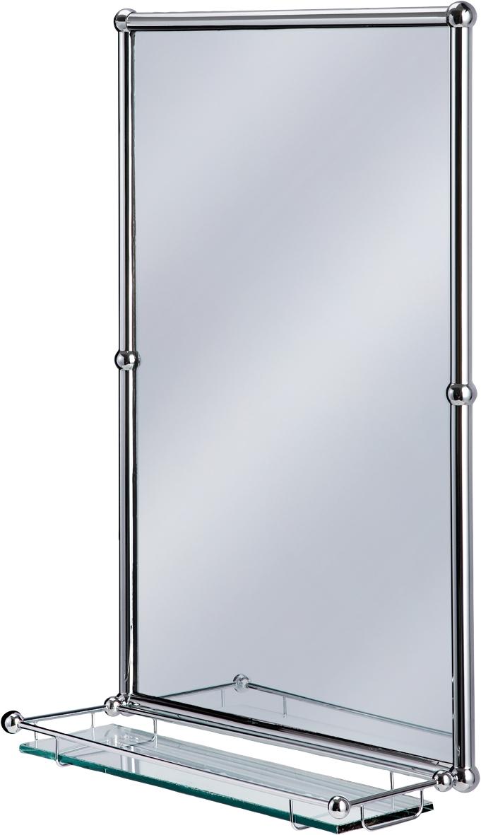 Chrome Bathroom Mirror With Shelf