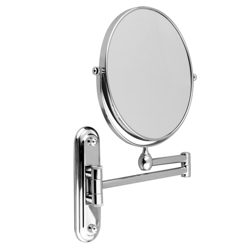 Chrome Extending Bathroom Mirror