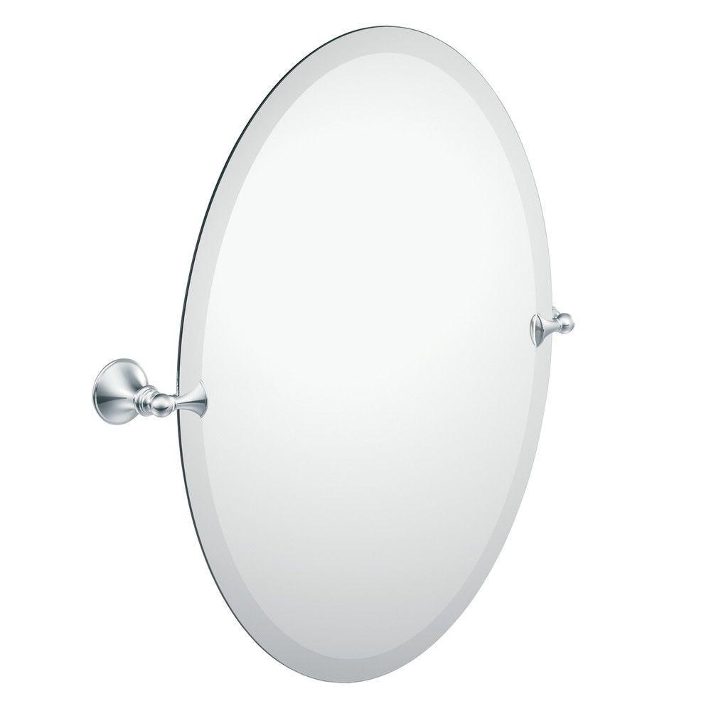 Chrome Oval Bathroom Mirrors