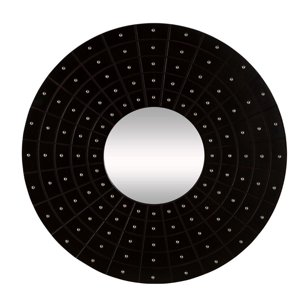 Circle Wall Mirror Black