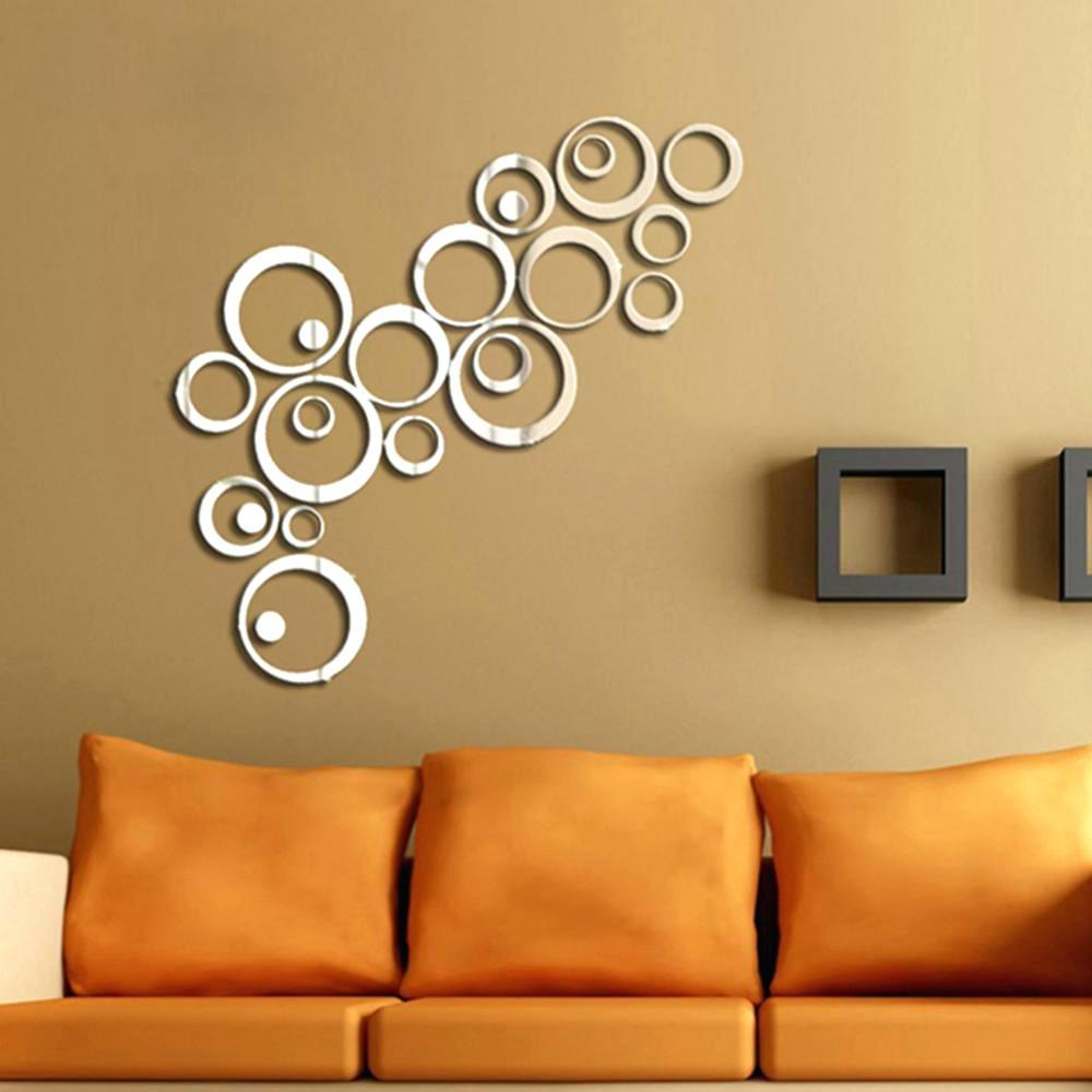 Circle Wall Mirror Decals