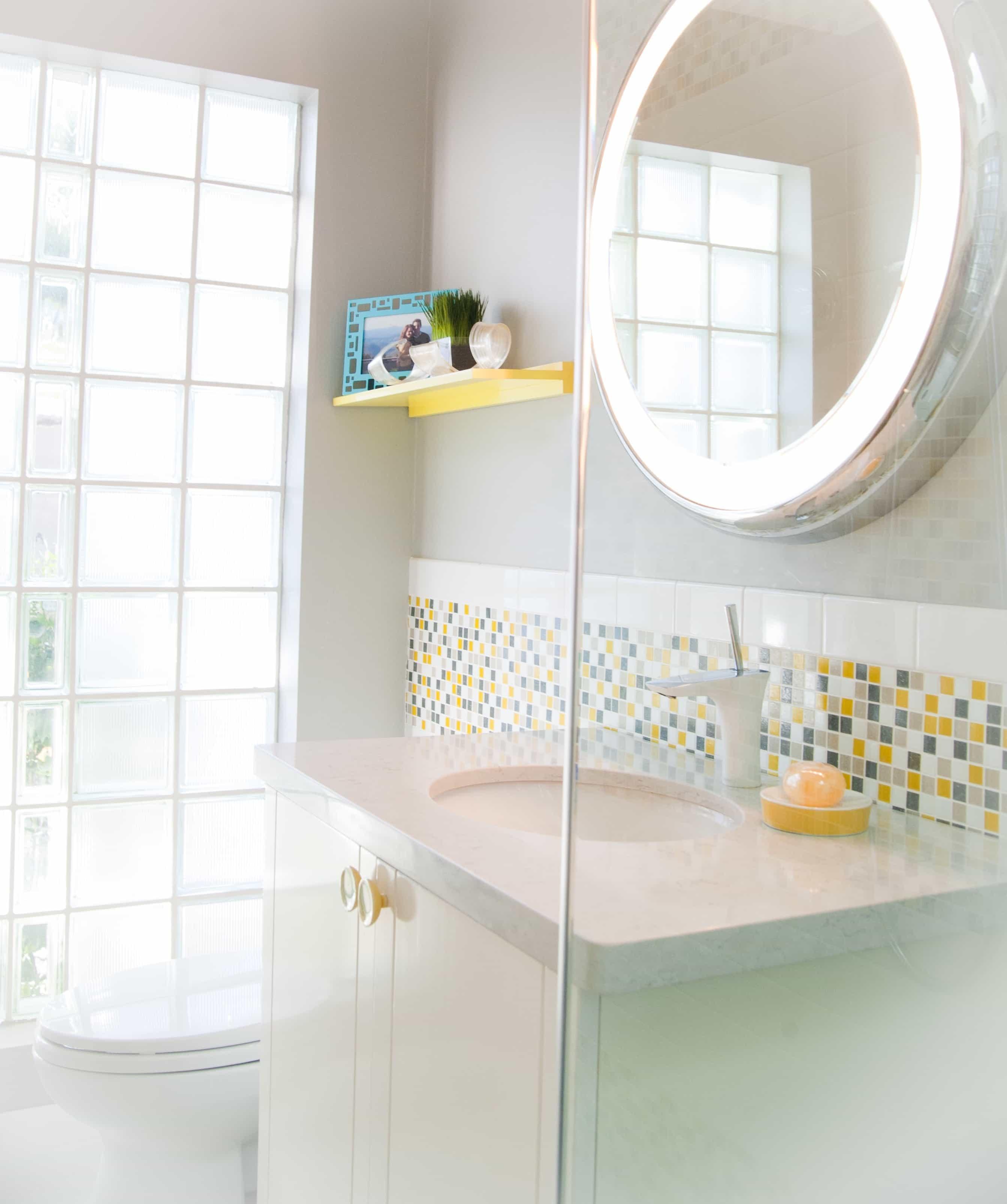 Circular Illuminated Bathroom Mirror