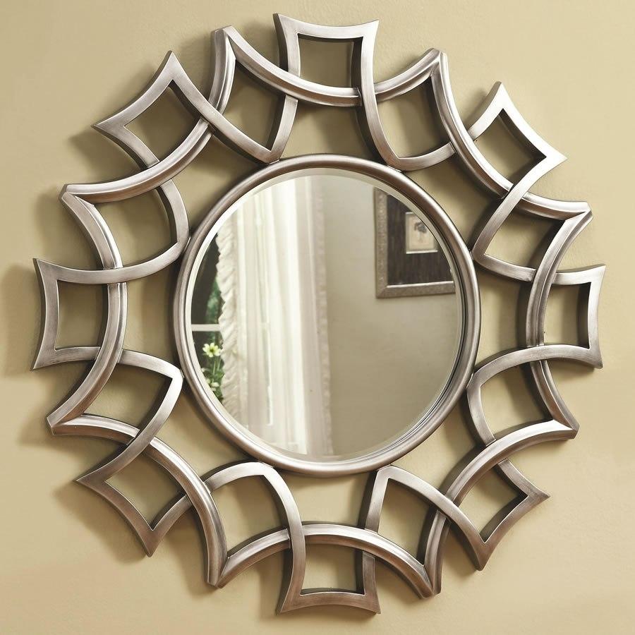 Clover Antique Silver Decorative Framed Wall Mirror