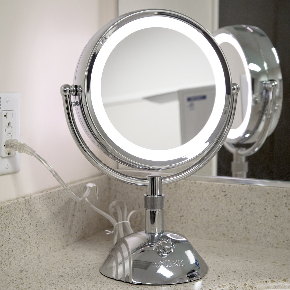 Conair Wall Mounted Lighted Makeup Magnification Mirror