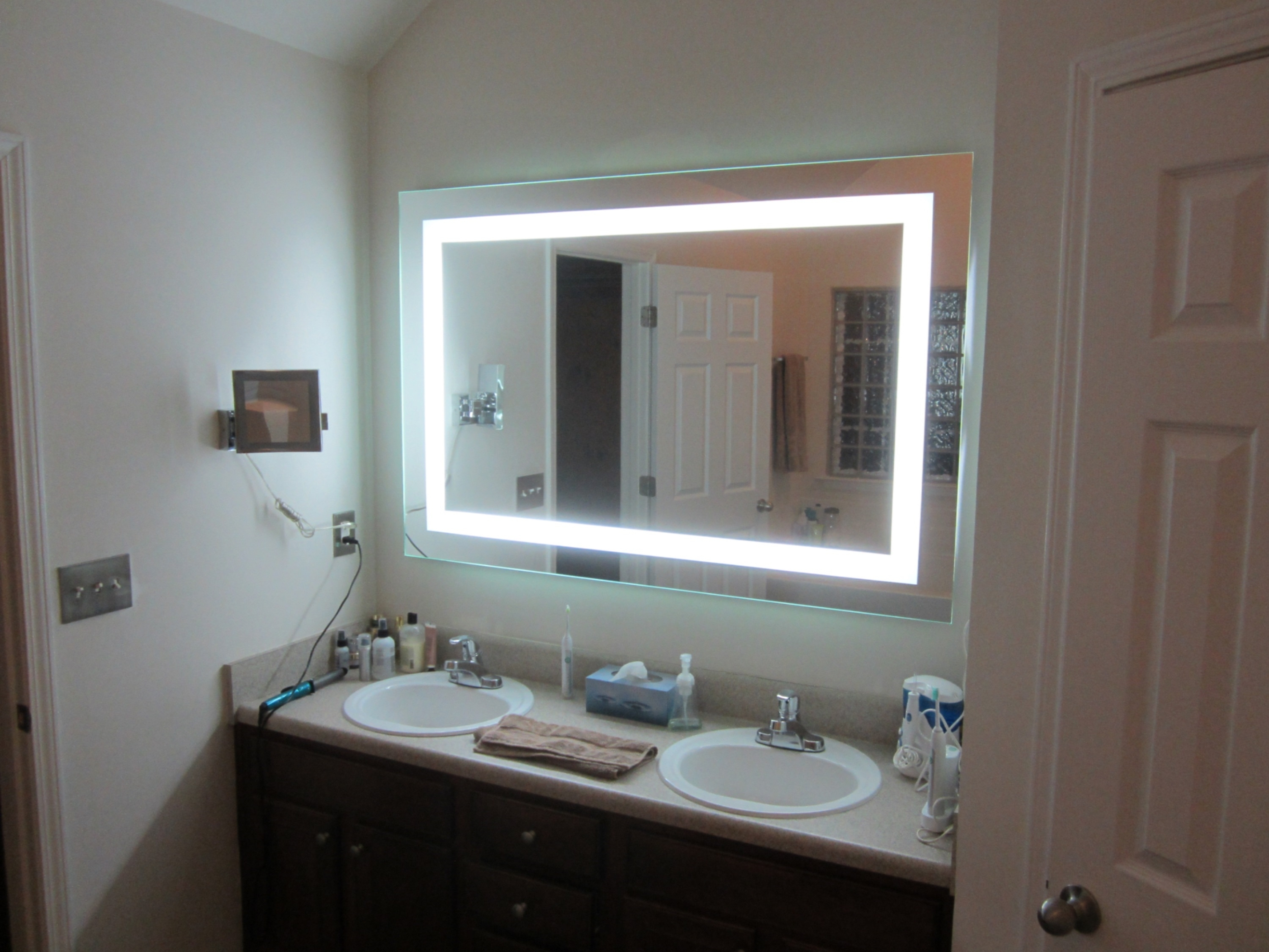 Conair Wall Mounted Lighted Makeup Mirror