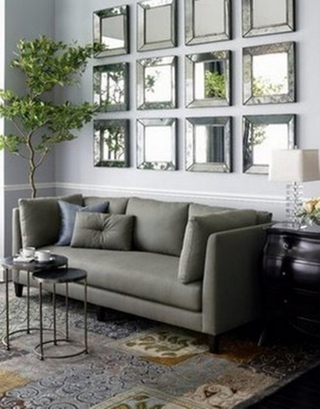Contemporary Living Room Wall Mirrors