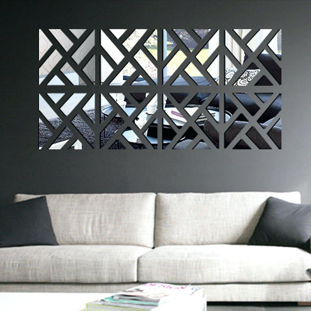 Contemporary Metal Wall Art Diamante Mirror
