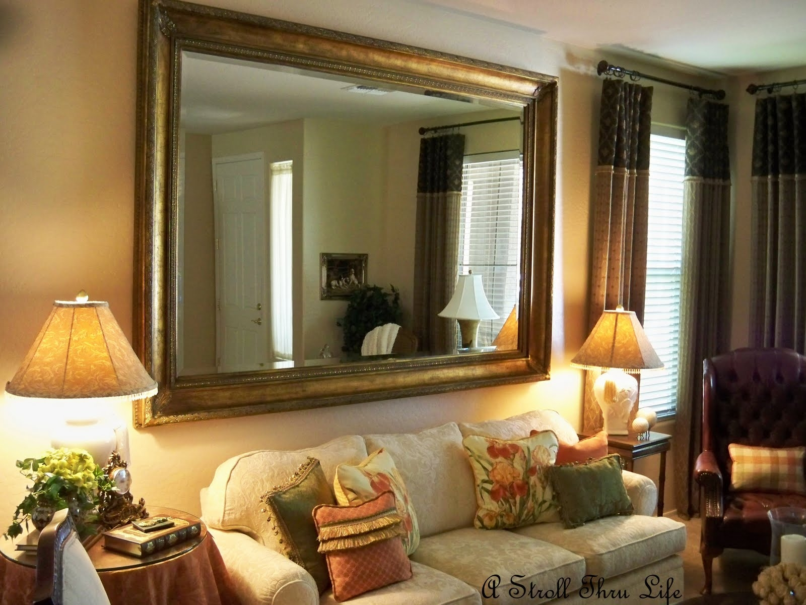 Cool Wall Mirror For Living Room Big