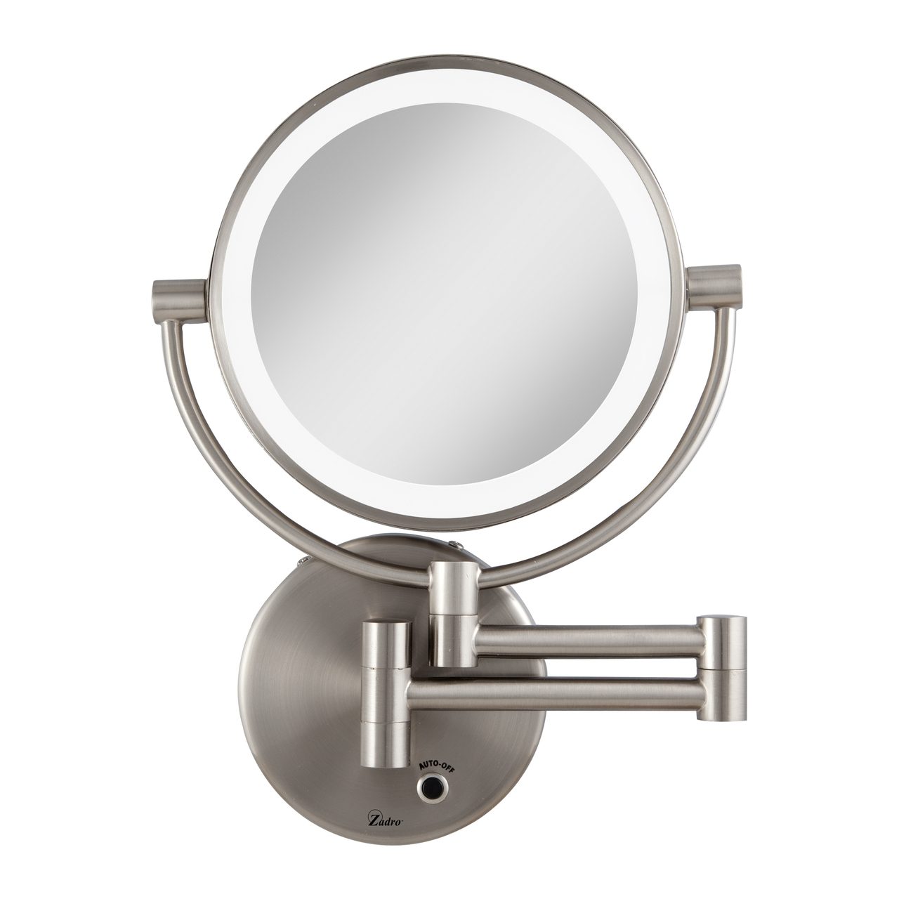 Cordless Lighted Wall Mounted Makeup Mirror