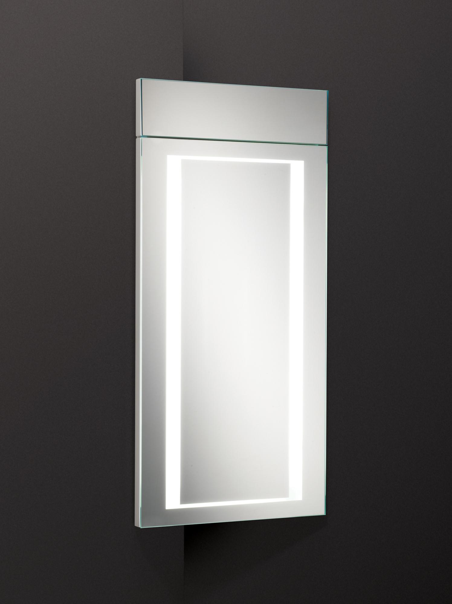 Corner Mirror Bathroom Unit
