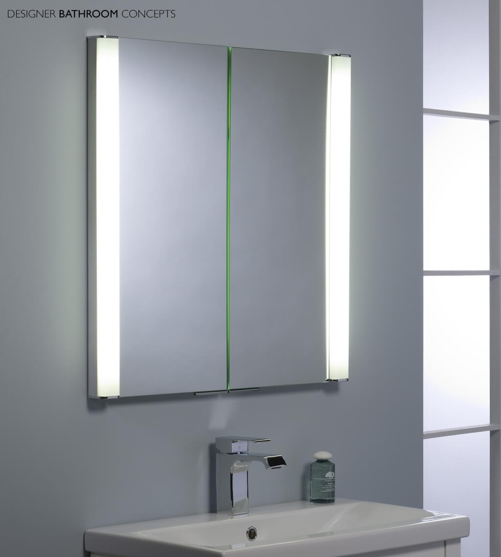Cosmetic Mirrored Wall Cabinet