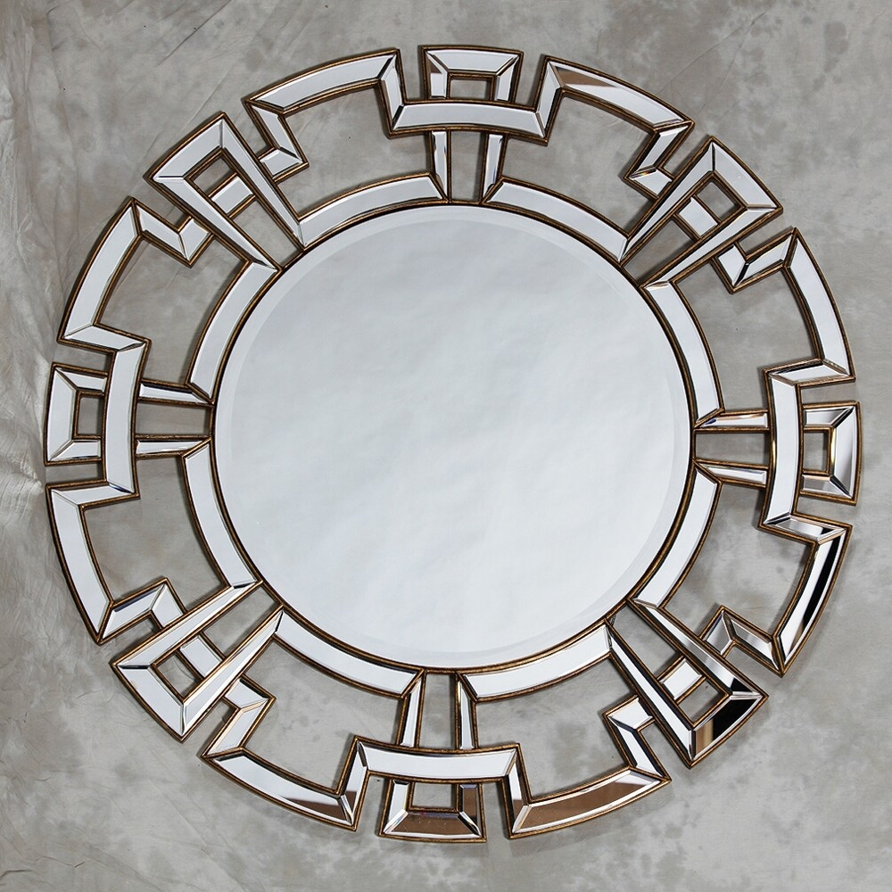 Cosmo 32 Round Silver Wall Mirror